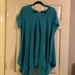Umgee Teal/Acquamarine Sweater - Short Sleeve